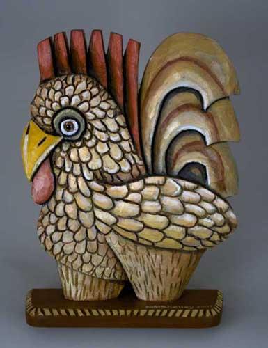 Folk art Rooster 9 B copy