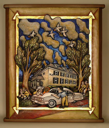 Folk art Commission Scott Tricia