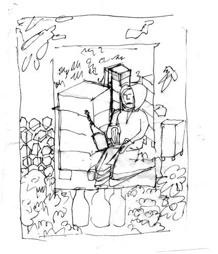 Beekeeping sketch 2