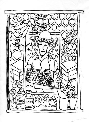 Beekeeping sketch 4
