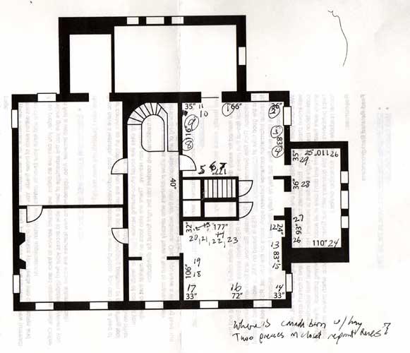 Cayuga Museum, museum floorplan