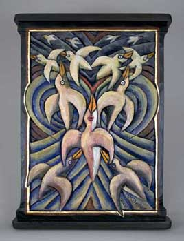 Birds, Wild Bird Dream, Folk Art Mary