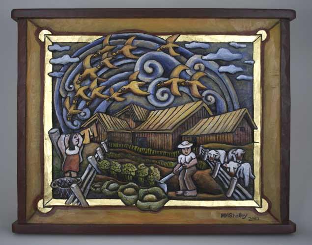 Barn with swirls, #4
