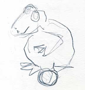 Mary Ann Bowman Frog sketch