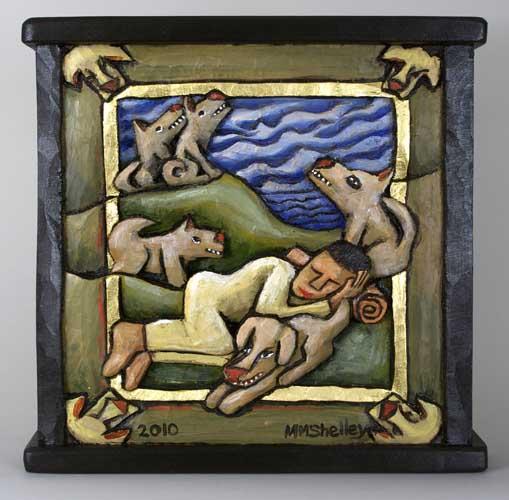 Dogs and Sleeping Figure, # 19