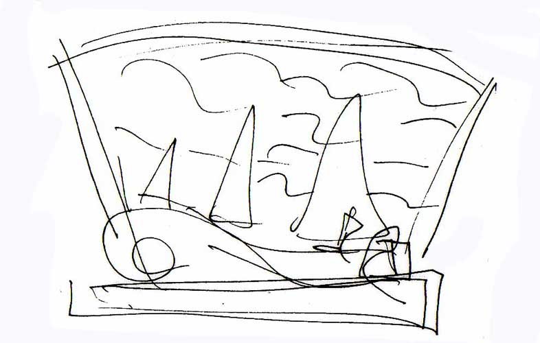 Sailing Icon # 18 Sketch