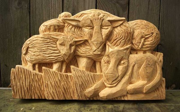 Sheep sketches carvings that resulted folk