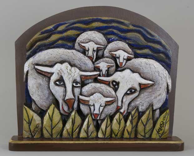 Sheep Icon #11 , Six Sheep