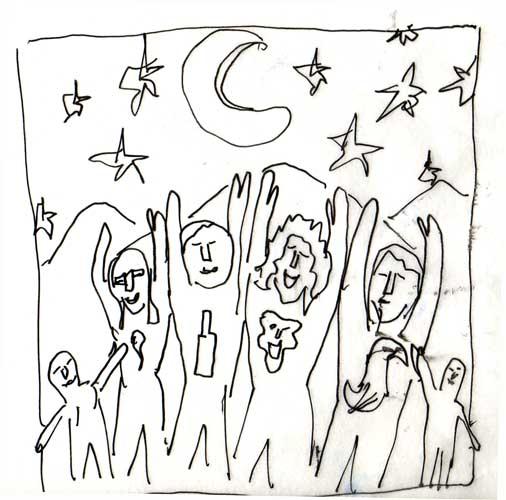 Four kids sketch 1