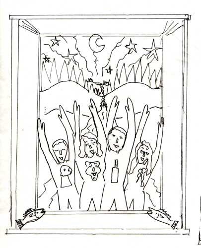 Four kids Sketch 2