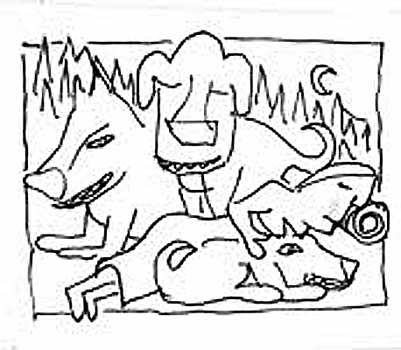 Guard Dogs Sleeping Person # 23 sketch 2
