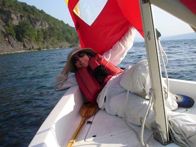 Sailing self portrait