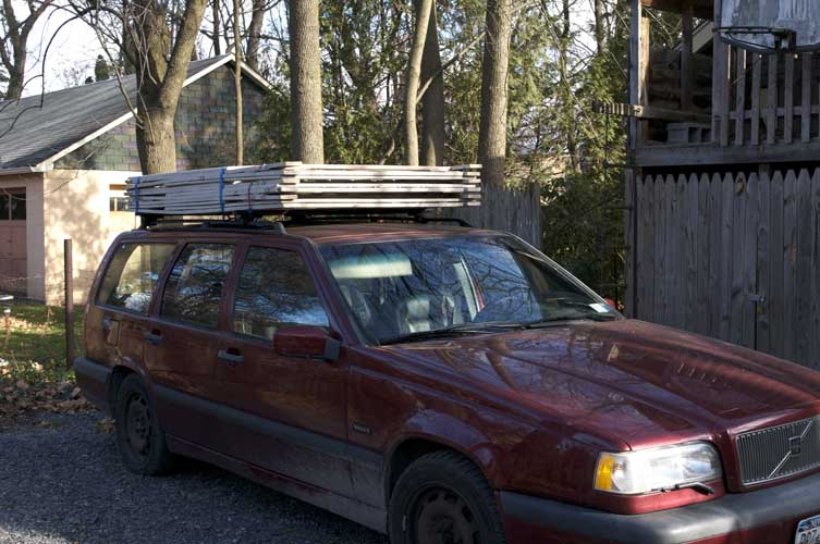 Car with rack