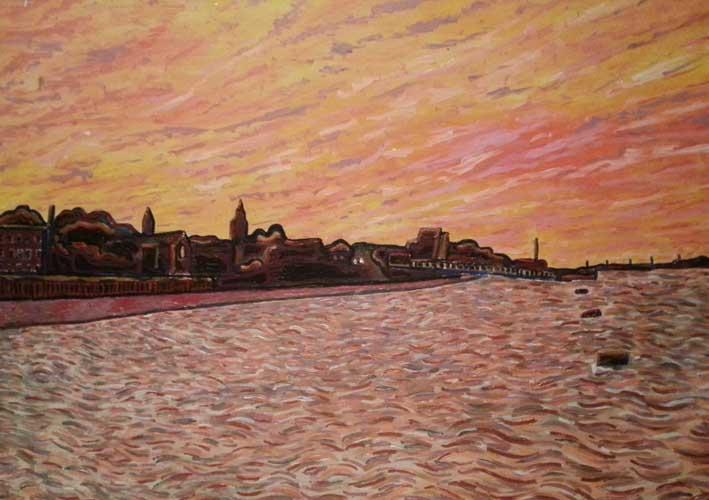Duncan Grant Gravesend Sunset