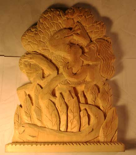 Adam and eve 12 carved