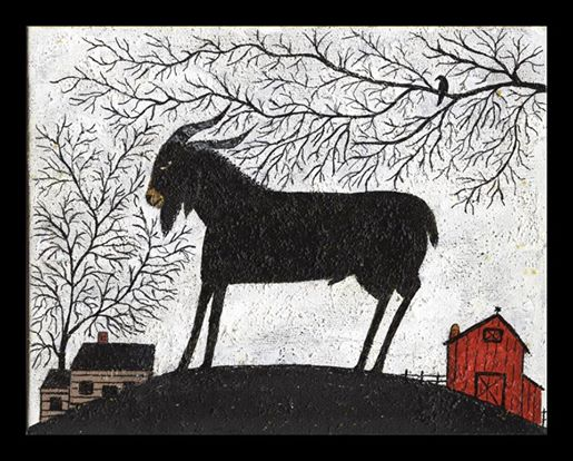 Black goat folk art 4
