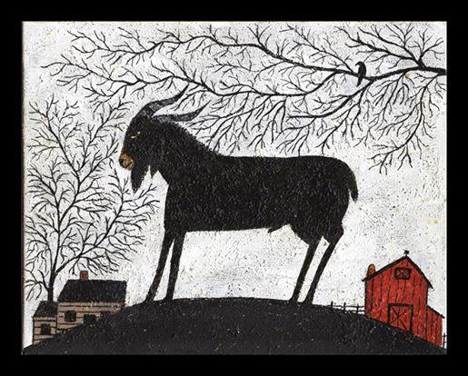 Black goat folk art 4