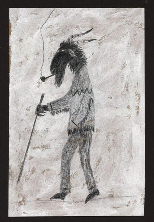 Black Goat Folk art 6