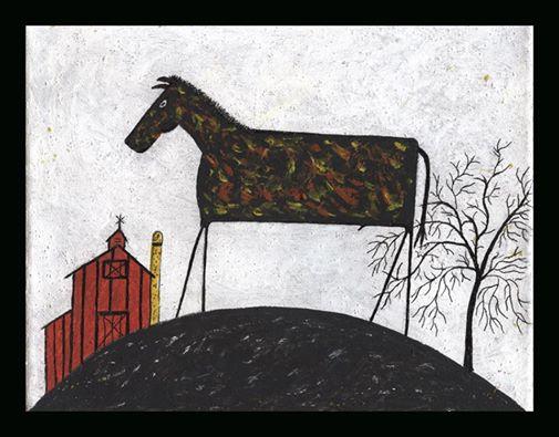 Black goat folk art 3