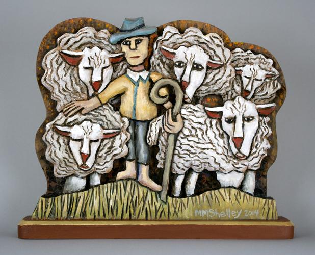 Shepherd and 5 Sheep #22 copy