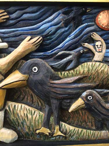 Crows and waving guys detail 2