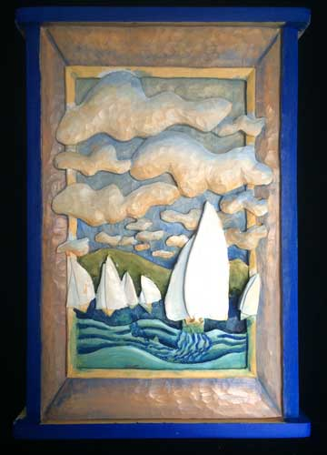 Sailboat race painting 4