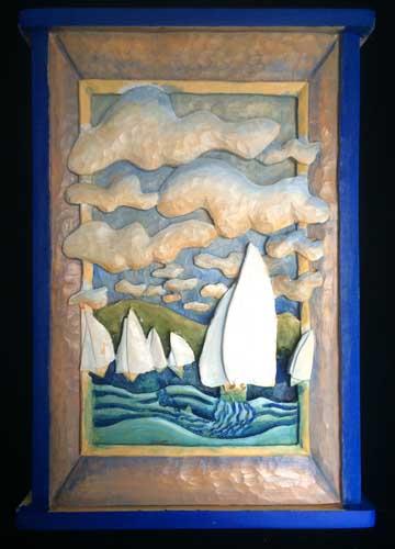 Sailboat race painting 4