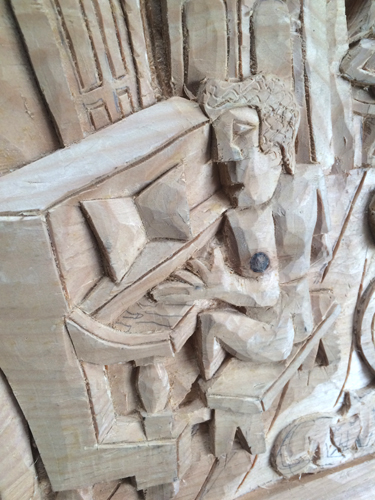 Accordian carving detail 1