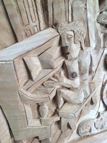 Accordian carving detail 1