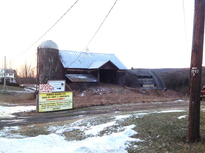 Barn phto with sign