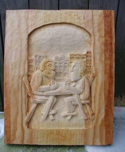 Schwartz carved unpainted