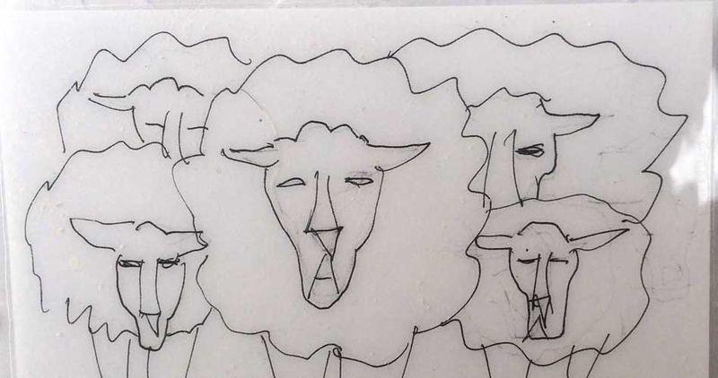 Sheep icon sketch