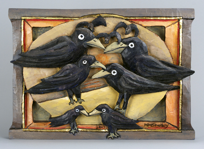 Crows Show off, in a circle