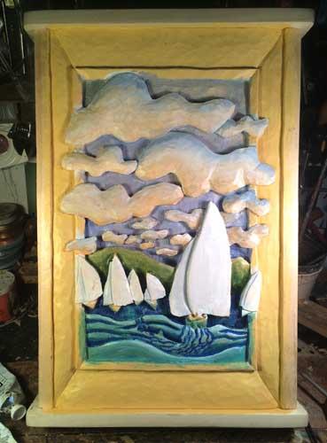 Sailboat race painting 3