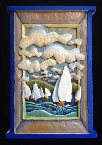 Sailboat race painting 5