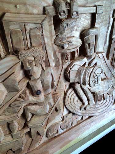 Accordian carving detail 3