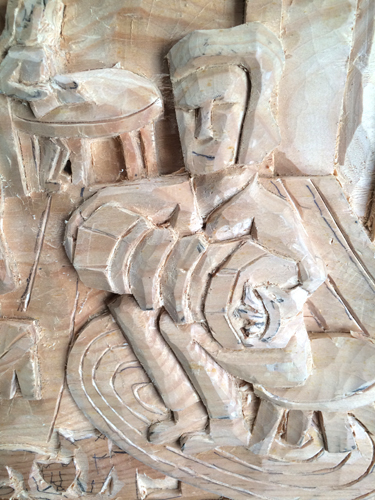 Accordian carving detail 2