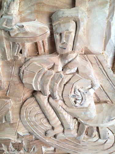 Accordian carving detail 2