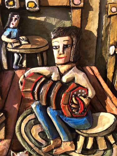 Accordian painted detail 2