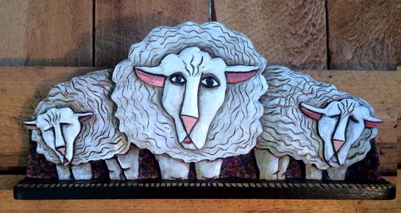 Horizontal sheep icon