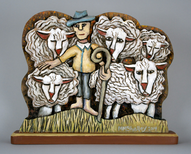 Shepherd and 5 Sheep #22 copy
