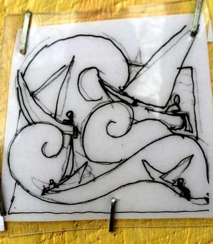 Sailing Icon 27 sketch