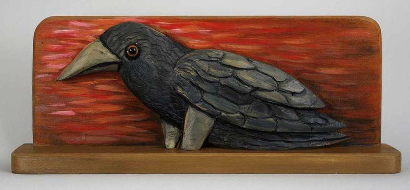 Crow faces left horizontal