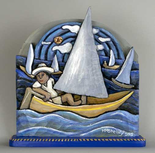 Sailing Icon # 29, dif sahdes of blue