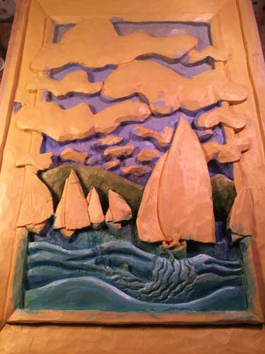 Sailboat race painting 2