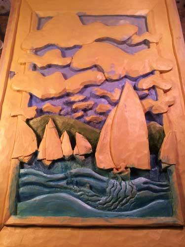 Sailboat race painting 2