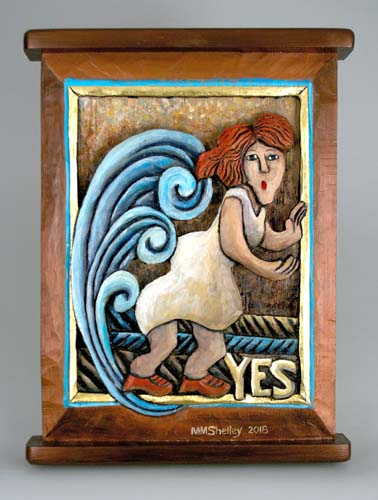 Woman Yes pushed by the wind 1